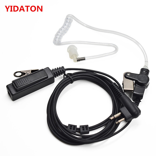 Security Surveillance Acoustic Air Tube Earpiece Headset PTT for Portable Radio Motorola Walkie Talkie EP450 CP180 CP185 CP040
