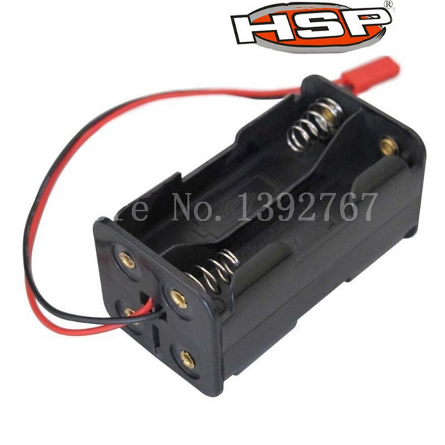 HSP 02070 Receiver Battery Compartment Case Holder Box JR Plug 4 x AA Spare Part For 1/8 1/10 Nitro Power RC Model Car