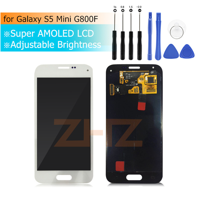 Super AMOLED For SAMSUNG Galaxy S5 Mini G800F LCD Display Touch Screen Digitizer Assembly Replacement Repair Parts G800 G800H
