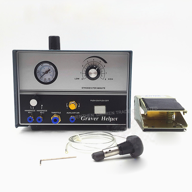 Pneumatic Machine Engraving Double Ended Graver Max Graver Tool Jewelry Engraver Double head micro inlay engraving machine 60W