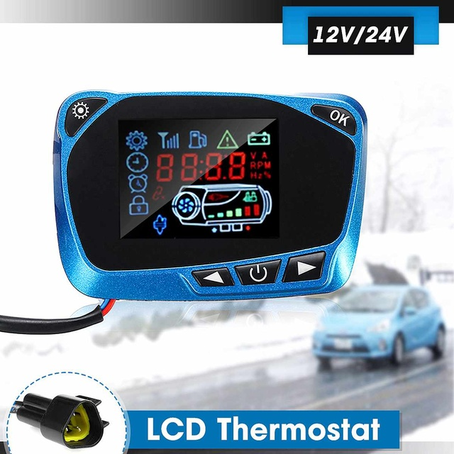 12/24V For 8kw Diesel Air Parking Heater LCD Display Thermostat Switch Timer Switch Car Parking Heater LCD Monitor Accessories