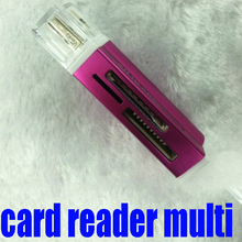 2015 New Gift to everyone : All in one USB 2.0 Multi Memory Card Reader for Micro SD/TF M2 MMC SDHC MS Duo wholesale