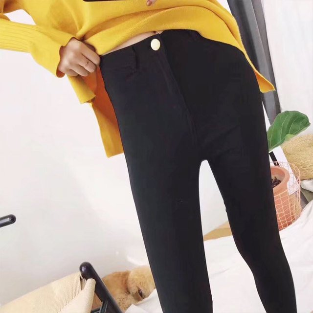 Women Jeans High Elastic plus size Stretch Jeans female denim skinny Slim pencil pants Spring Jeans Pants