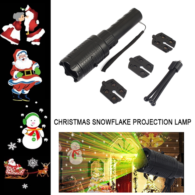 LED Landscape Lamp Home Flashlight Xmas Projector Lights RGBW 4 Pattern Portable Moving  Stage Light Christmas Decor