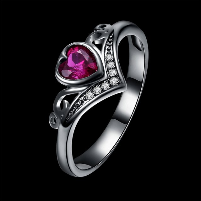 2018 Top Sales Black Gun Color Ring Crystal Fit Austrian Crystal Ring For Women Jewelry Fashion Lady Gift Party Female Rings