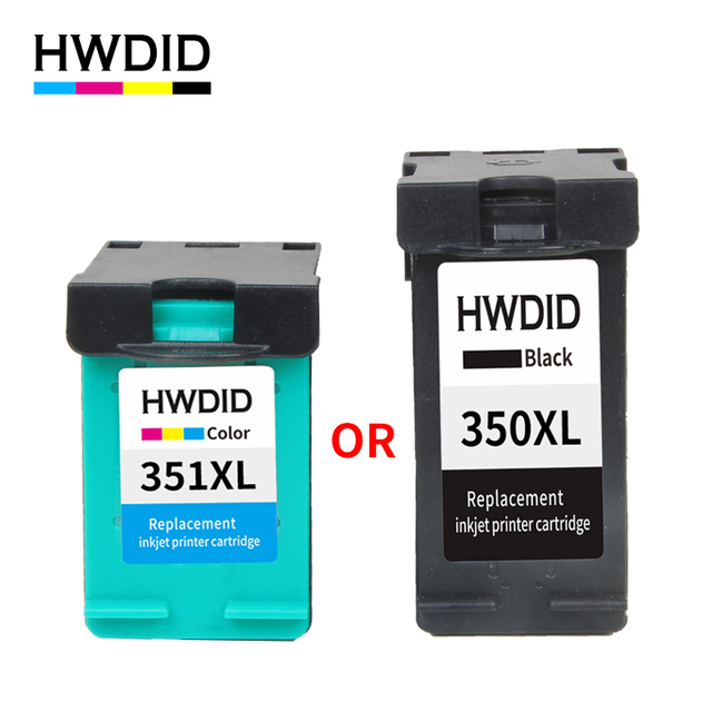 HWDID Remanufactured Ink Cartridge Replacement for HP 350XL 351XL for HP D4200 D4260 D4263 D4360 J5730 5780 5785 C4380 4480 4580