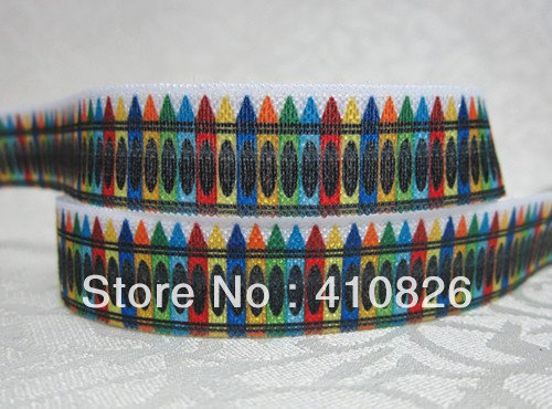 Q&N ribbon wholesale/OEM 5/8inch 715004 pencil Folded Over Elastic FOE 50yds/roll free shipping