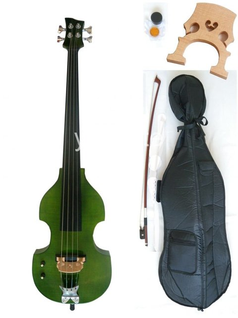 4/4 full size New  Electric cello Powerful Sound White Blue Black Yellow solid wood Ebony parts #19