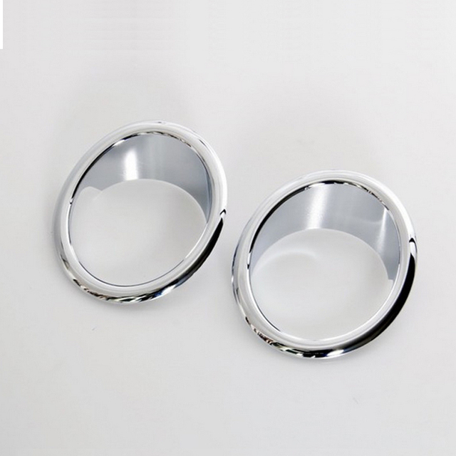 Car Styling Front Fog Lamp Cover Head Fog Light Ring Cover For BMW X3 F25 2012 2013 2014 2015 Abs Chrome 2pcs Per Set