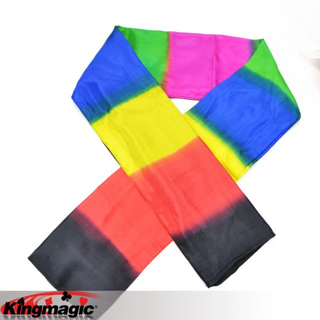 Black To Rainbow Scarf Free Shipping King Magic Tricks Props Toys Email Video To You