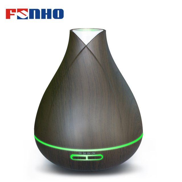 FUNHO 400ml Ultrasonic Air Aroma Humidifier With 7 Color LED Lights Electric Aromatherapy Essential Oil Aroma Diffuser for Home