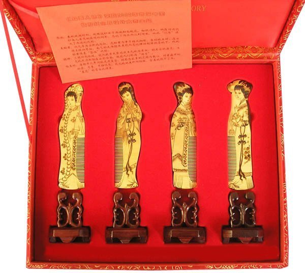 2020 Sale New!guaranteed 100% Chinese Characteristics Gift Boxwood Comb Classical Four Fair High Grade Business Gift-b110-2