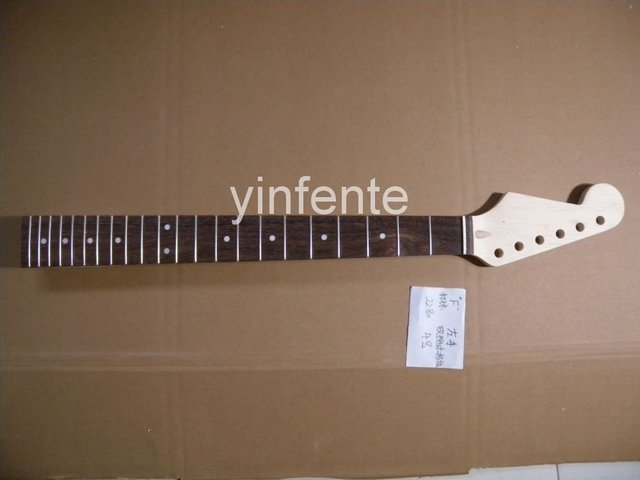 22 fret  648  mm  25.5  inch Unfinished electric guitar neck Maple made and rosewood  fingerboard   model 1pcs #3