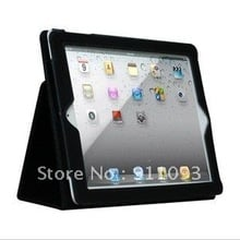 Free Shipping Black Leather Case Cover With Stand For 9.7 Inch iPad 3 Tablets