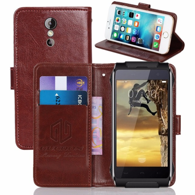 GUCOON Vintage Wallet Case for HomTom HT20 4.7inch PU Leather Retro Flip Cover Magnetic Fashion Cases Kickstand Strap
