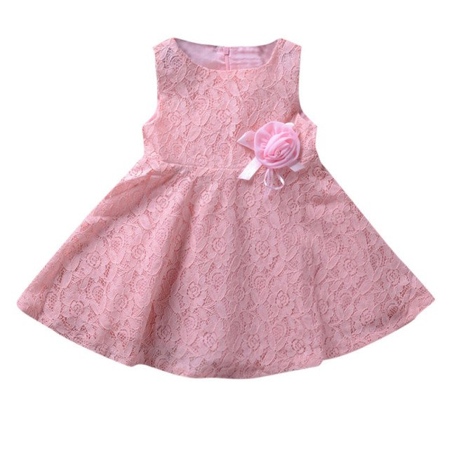 Telotuny girl dress baby girl dresses party and wedding dresses for girls Sleeveless Lace Sunflower Print princess dress Dec17