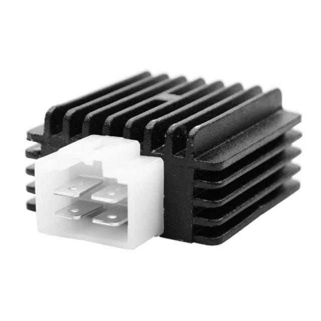 Motorcycle Voltage Regulator Rectifier for 4-Stroke 4 Pin Pit Dirt Bikes Quads Replace Accessories Black