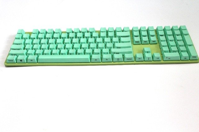 New Arrival Side-printed Mint Green 108 PBT Keycap With Keycap Board For OEM Cherry MX Switches Mechanical Gaming Keyboard