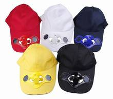 New Summer Men Women Cotton blend Solid Solar Cool Fan Snapback Visor Golf Baseball Caps Sunproof Hats Sport Outdoor.