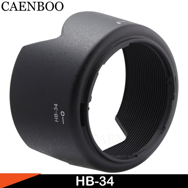 CAENBOO HB-34 HB34 Lens Hood Reversible 52mm Lens Accessories Replace For Nikon AF-S DX 55-200mm f/4-5.6G IF-ED VR Reversible