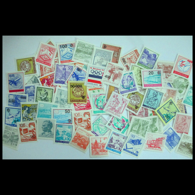 Yugoslavia 70 PCS/lot  All New  Postage Stamps Small Size For Collecting , No Repeat , All different