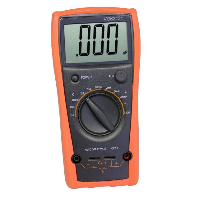 AideTek New 3 1/2 Digital large LCD LC meter 2000uF 20H VC6243  Free Shipping