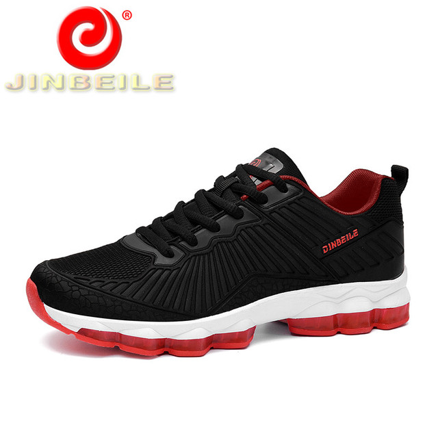 JINBEILE 2018 Spring & Autumn Running Shoes Men Durable Rubber Outsole Breathable Men Sneakers Outdoor Walking Shoes Men 39-44