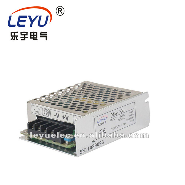 approved CE ROHS power MS-15-15 single output 15W 15V AC DC Mini size  universal switching power supply