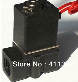 "Free shipping,Plastic micro solenoid valve 2P025-08 1/4"" 2 position 2 way Mini Valve Direct Acting Type Solenoid Valve"
