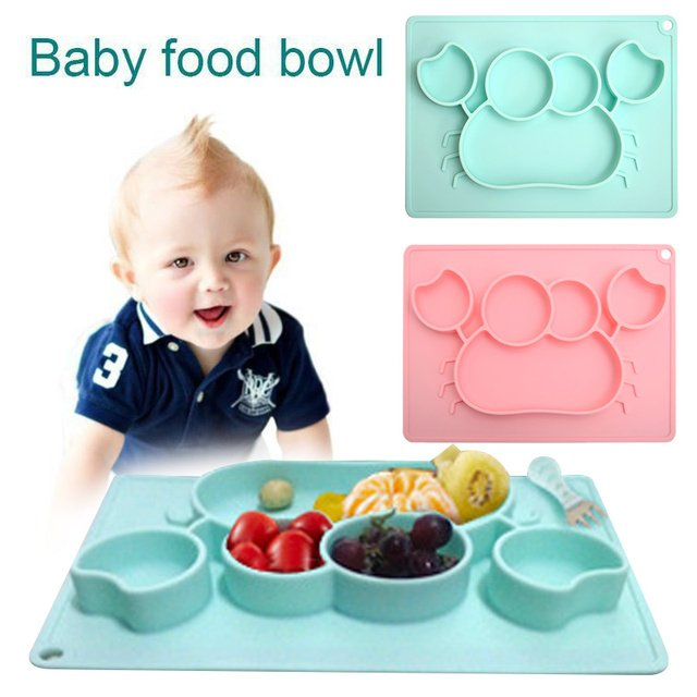 Minimat Baby Bowl Kids Utensils Infant Bowl Non-Slip Environmentally Friendly Material Silicone 2 Colors Feeding Suction Cup