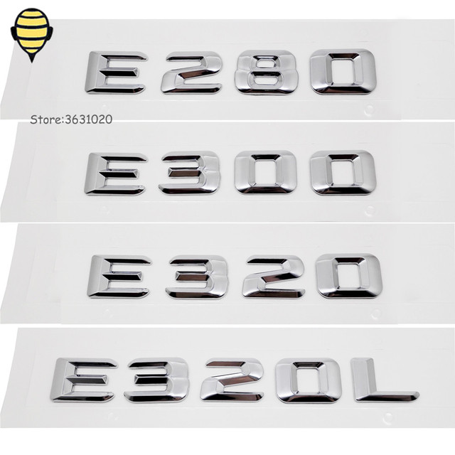 Metal Car Rear Sticker For E Class E280 E300 E320 E320L W168 W203 W207 Auto Styling Accessories Emblem Badge For Mercedes Benz