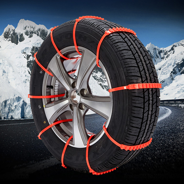 Snow Chain Truck SUV Vehicles Tyre Emergency Thickened Climbing Mud Ground Accessories Winter Driving 1 Pc Orange Buckle