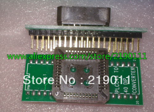 PLCC44 to DIP40 EZ Programmer Adapter Socket 12299