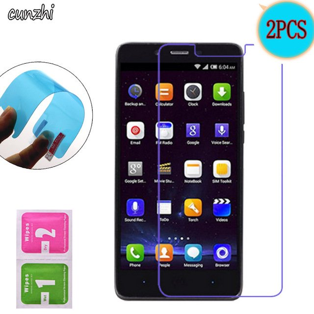 2PCS  Soft Ultra Clear TPU Nano-coated Tempered Explosion proof Screen Protector Film For Elephone P6000