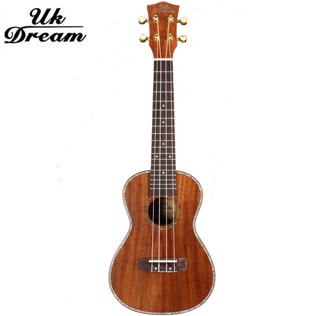 Full Sapele 23 inch Small wooden Guitar Musical Stringed Instrument Closed Knob 4 Strings Guitar 18 Frets Ukulele Guitar UC-C8L
