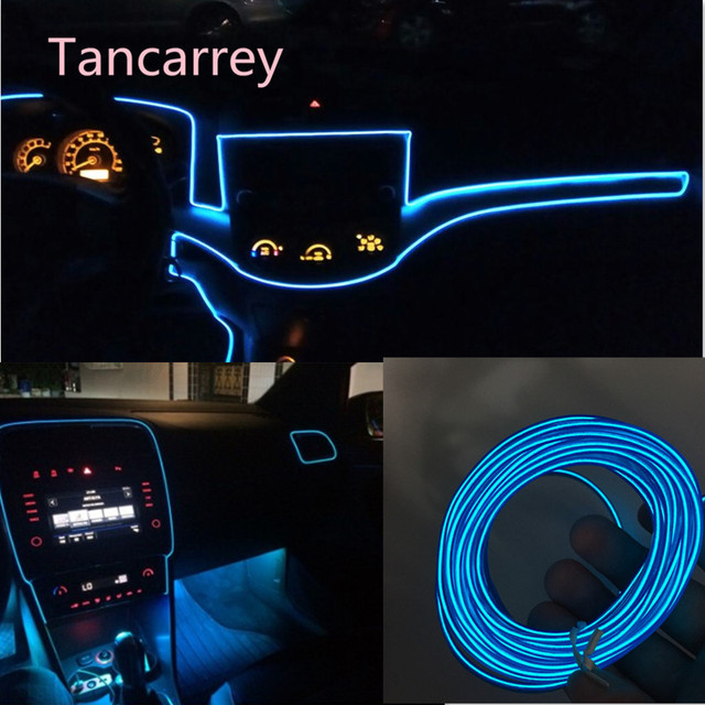 2017 new style Car styling LED decorative strip for jetta astra j kia ceed peugeot 407 nissan note volvo s60 lexus  Accessories