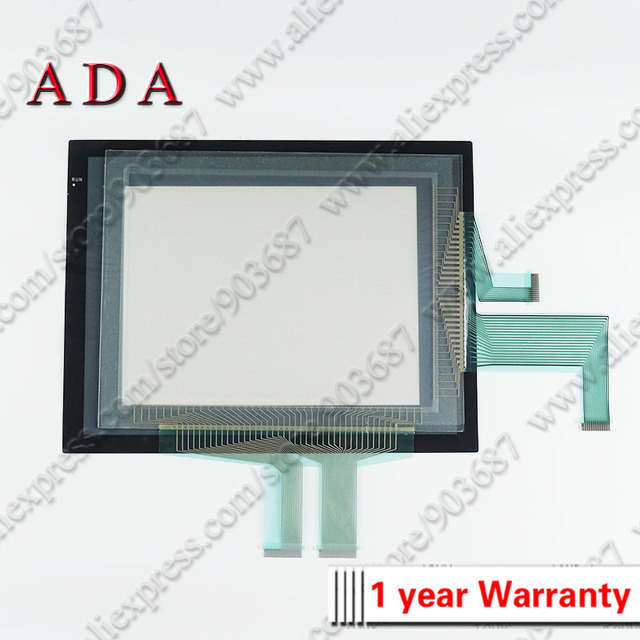 Touch Panel Screen Glass Digitizer for Omron NS10-TV00B-V2 NS10-TV00B-ECV2 with Front Overlay (protective film)