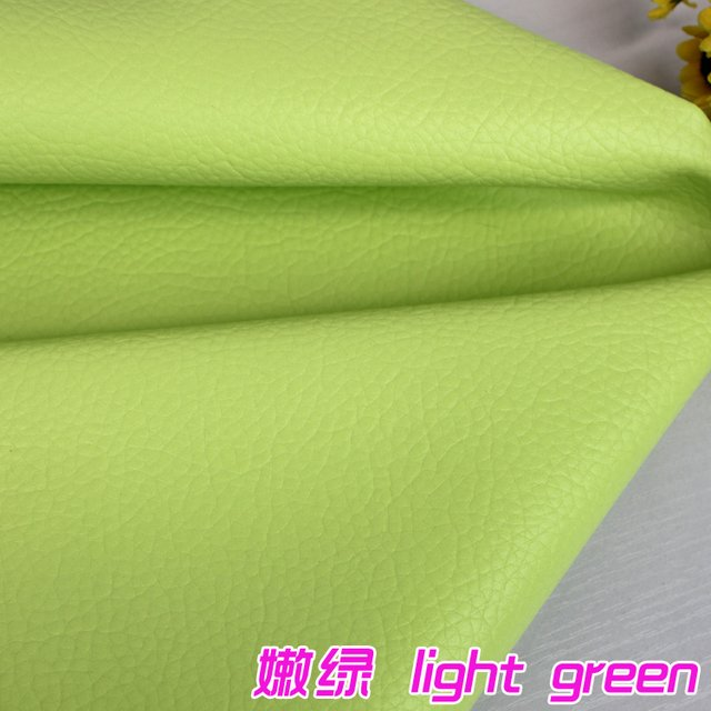 """Light Green Big Lychee Pattern PU Synthetic Leather Faux Leather Fabric Upholstery Car Interior Sofa Cover  54"""" Wide Per yard"""