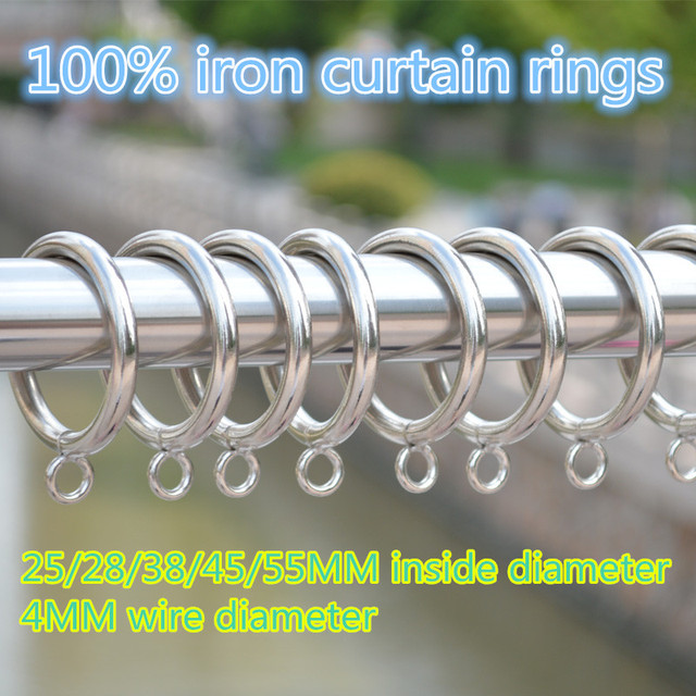 Free shipping 100% iron curtain rings curtains accessories,not rust,25-55MM inside diameter, 4MM wire diameter