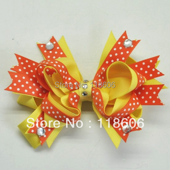 Wholesale 2013 Medium Size Mix Color Layered Beautiful Boutique Hair Bow