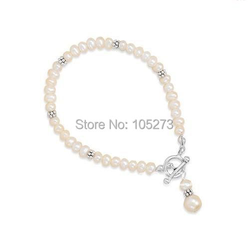 Stunning Rare 10 Strand Seed Pearl 925 Silver Bracelet Slide Clasp AA 5-6MM White Freshwater Pearl Bangle New Free Shipping