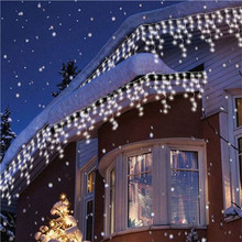 5m Outdoor Decorative Fairy Christmas Light Led Garland Curtain Icicle String