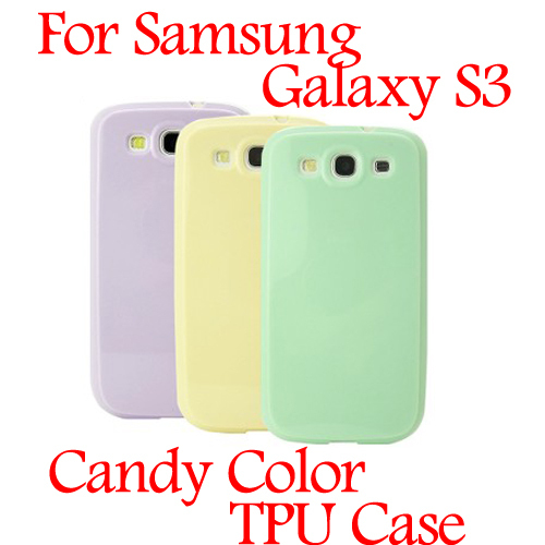 Candy Colors Style Soft TPU Gel Touch Case Jelly Cases For Samsung Galaxy S3 i9300 Case