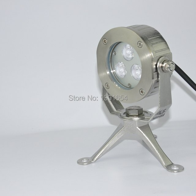 High Quality 100% IP68 316 stainless steel 9W Single Color  LED Pond Light Underwater Light for Fountain with Tripod