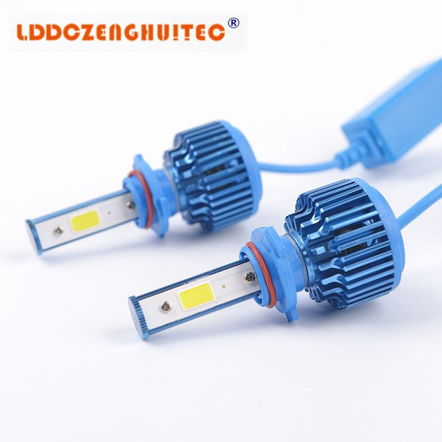 LDDCZENGHUITEC H7 LED auto Headlight Headlamp 360 degree fix 12-24V COB Conversion kit  6000k H1 H3 H11 H4 9005 9006 880 881