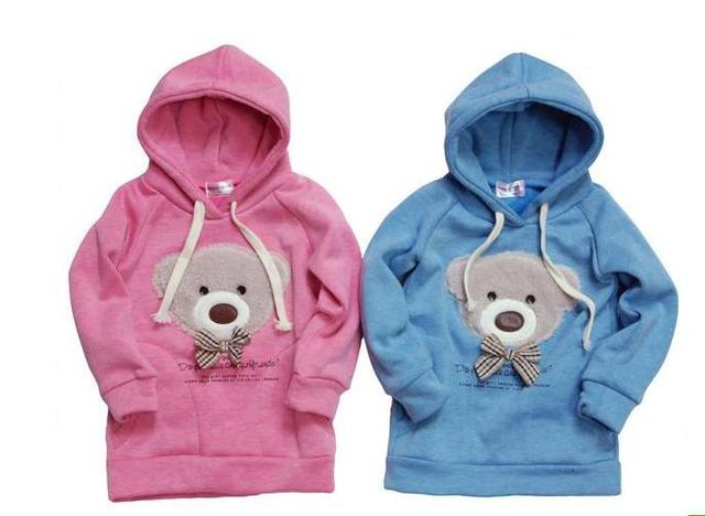 New arrival / kids hoodie / winter / children clothing / baby teddy bear / Clothes/ Sweater / Baby wear /