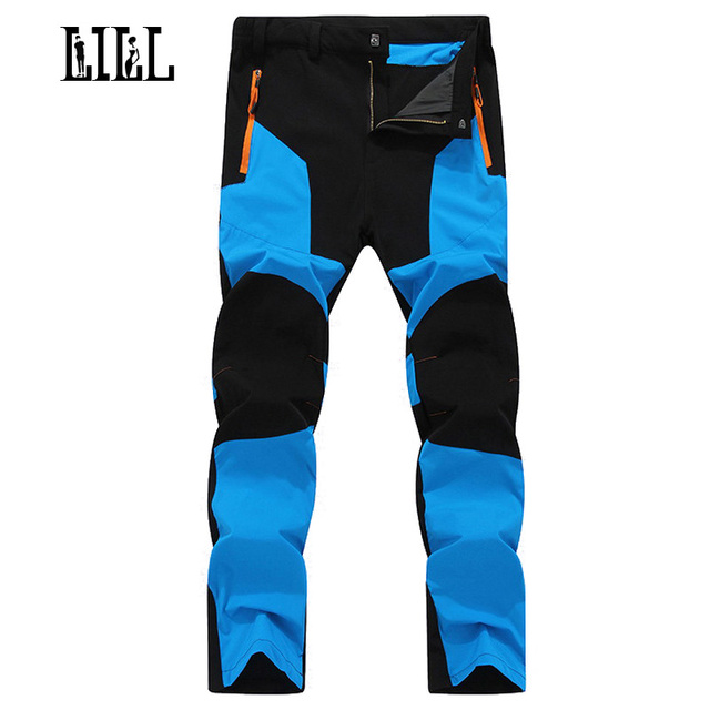 LILL | Mens Elastic Quick Dry Casual Pants Men 2017 Autumn Breathable Male Trousers Joggers Travel Waterproof Cargo Pants,UA259