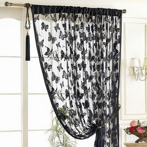 2014Hot Butterfly Fringe String Curtain Panel Window Room Divider Tassel 11 Colors 1*2M