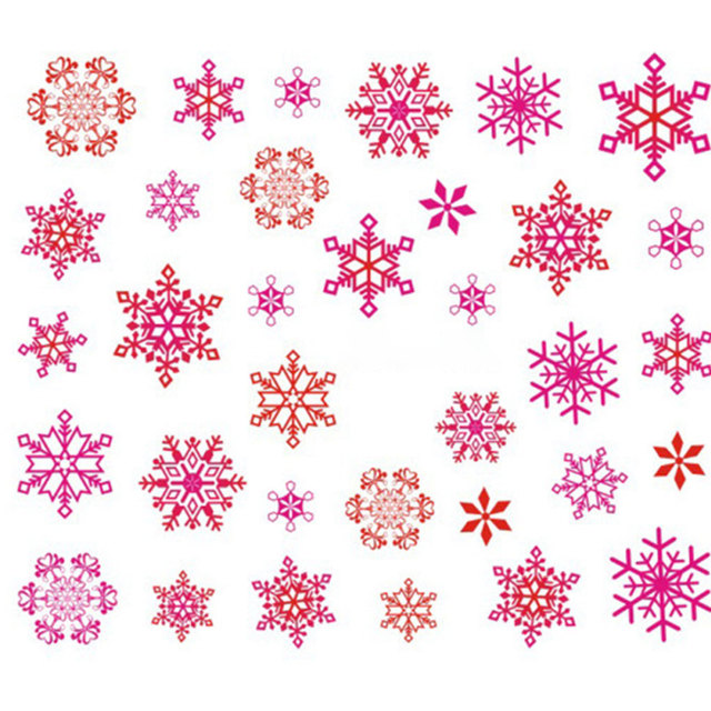 Hot Sale 1 Sheet Christmas 3D Nail Sticker Snowflakes Nail Tips Tatoos Party Manicure Transfer Stickers