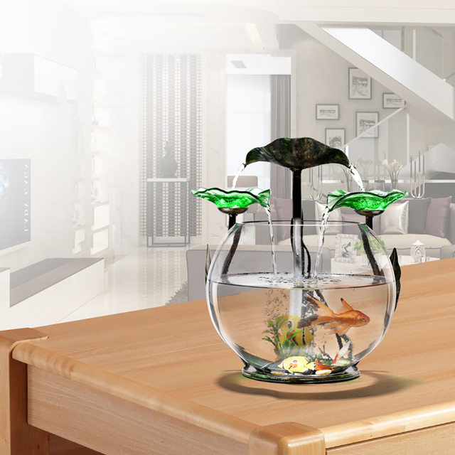 Small Fish Tank Mini Cylinder Desk Living Room Small Decoration Creative Round Ecological Glass Lazy Aquarium Buy Cheap In An Online Store With Delivery Price Comparison Specifications Photos And Customer Reviews